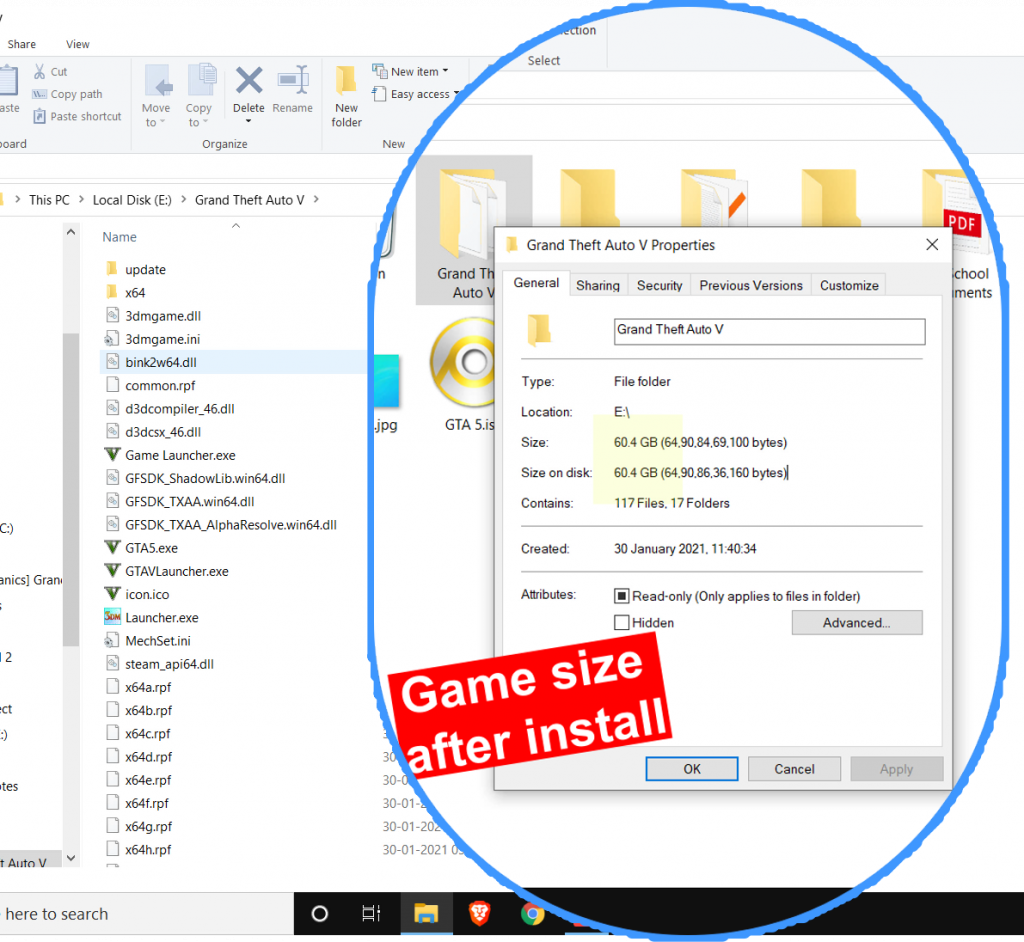 gta 5 highly compressed game size after install